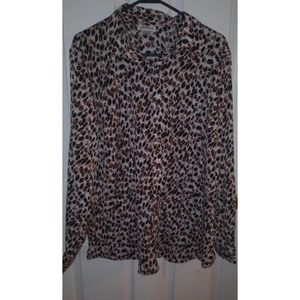 Jaclyn Smith collection leopard print blouse xxl